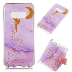 Elf Purple Soft TPU Marble Pattern Phone Case for Samsung Galaxy S10 Lite(5.8 inch)