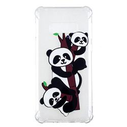 Three Pandas Anti-fall Clear Varnish Soft TPU Back Cover for Samsung Galaxy S10 Lite(5.8 inch)