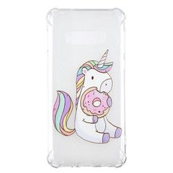 Donut Unicorn Anti-fall Clear Varnish Soft TPU Back Cover for Samsung Galaxy S10e(5.8 inch)