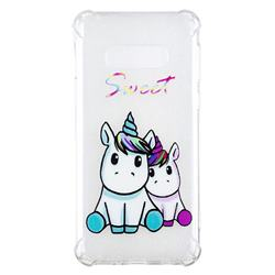 Sweet Unicorn Anti-fall Clear Varnish Soft TPU Back Cover for Samsung Galaxy S10e(5.8 inch)
