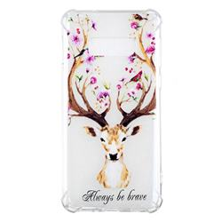 Always be Brave Anti-fall Clear Varnish Soft TPU Back Cover for Samsung Galaxy S10 Lite(5.8 inch)