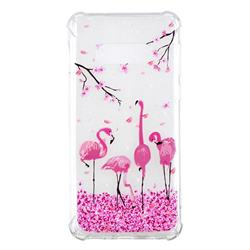 Cherry Flamingo Anti-fall Clear Varnish Soft TPU Back Cover for Samsung Galaxy S10 Lite(5.8 inch)