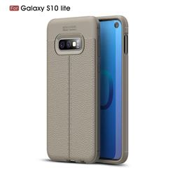 Luxury Auto Focus Litchi Texture Silicone TPU Back Cover for Samsung Galaxy S10e(5.8 inch) - Gray