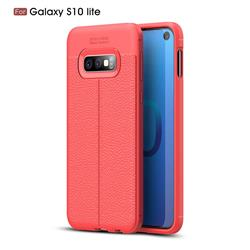 Luxury Auto Focus Litchi Texture Silicone TPU Back Cover for Samsung Galaxy S10e(5.8 inch) - Red