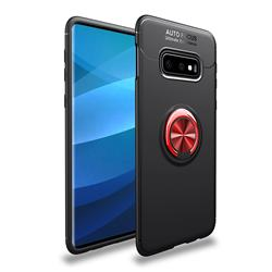 Auto Focus Invisible Ring Holder Soft Phone Case for Samsung Galaxy S10e(5.8 inch) - Black Red