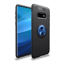 Auto Focus Invisible Ring Holder Soft Phone Case for Samsung Galaxy S10e(5.8 inch) - Black Blue