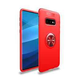 Auto Focus Invisible Ring Holder Soft Phone Case for Samsung Galaxy S10e(5.8 inch) - Red