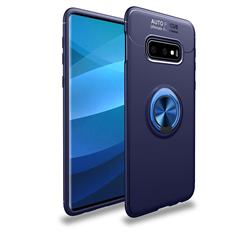 Auto Focus Invisible Ring Holder Soft Phone Case for Samsung Galaxy S10e(5.8 inch) - Blue