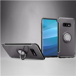 Armor Anti Drop Carbon PC + Silicon Invisible Ring Holder Phone Case for Samsung Galaxy S10e (5.8 inch) - Grey