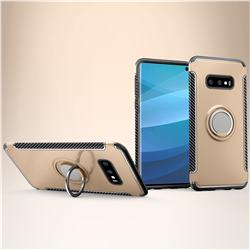 Armor Anti Drop Carbon PC + Silicon Invisible Ring Holder Phone Case for Samsung Galaxy S10e (5.8 inch) - Champagne