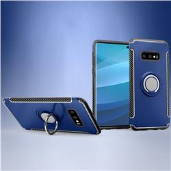 Armor Anti Drop Carbon PC + Silicon Invisible Ring Holder Phone Case for Samsung Galaxy S10e (5.8 inch) - Sapphire