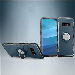 Armor Anti Drop Carbon PC + Silicon Invisible Ring Holder Phone Case for Samsung Galaxy S10e (5.8 inch) - Navy