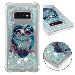 Sweet Gray Owl Dynamic Liquid Glitter Sand Quicksand Star TPU Case for Samsung Galaxy S10e (5.8 inch)