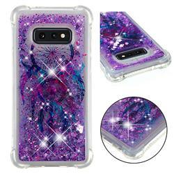 Retro Wind Chimes Dynamic Liquid Glitter Sand Quicksand Star TPU Case for Samsung Galaxy S10e (5.8 inch)