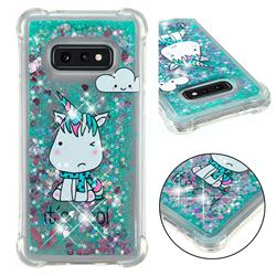 Tiny Unicorn Dynamic Liquid Glitter Sand Quicksand Star TPU Case for Samsung Galaxy S10e (5.8 inch)