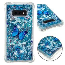 Flower Butterfly Dynamic Liquid Glitter Sand Quicksand Star TPU Case for Samsung Galaxy S10e (5.8 inch)