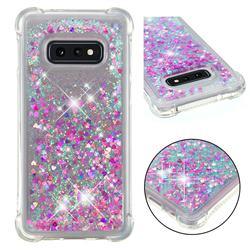 Dynamic Liquid Glitter Sand Quicksand Star TPU Case for Samsung Galaxy S10e (5.8 inch) - Rose