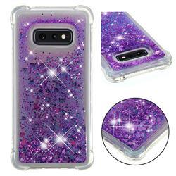 Dynamic Liquid Glitter Sand Quicksand Star TPU Case for Samsung Galaxy S10e (5.8 inch) - Purple