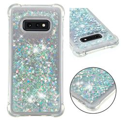 Dynamic Liquid Glitter Sand Quicksand Star TPU Case for Samsung Galaxy S10e (5.8 inch) - Silver