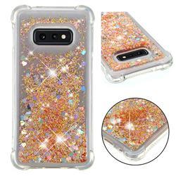 Dynamic Liquid Glitter Sand Quicksand Star TPU Case for Samsung Galaxy S10e (5.8 inch) - Diamond Gold