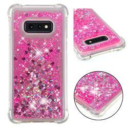 Dynamic Liquid Glitter Sand Quicksand TPU Case for Samsung Galaxy S10e (5.8 inch) - Pink Love Heart