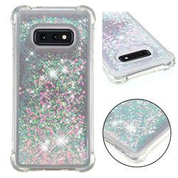 Dynamic Liquid Glitter Sand Quicksand TPU Case for Samsung Galaxy S10e (5.8 inch) - Silver Powder Star