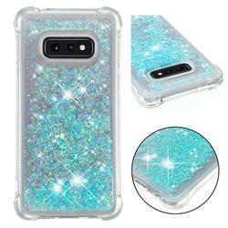 Dynamic Liquid Glitter Sand Quicksand TPU Case for Samsung Galaxy S10e (5.8 inch) - Silver Blue Star