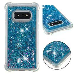 Dynamic Liquid Glitter Sand Quicksand TPU Case for Samsung Galaxy S10e (5.8 inch) - Blue Love Heart