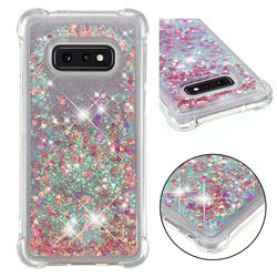 Dynamic Liquid Glitter Sand Quicksand TPU Case for Samsung Galaxy S10e (5.8 inch) - Rose Gold Love Heart