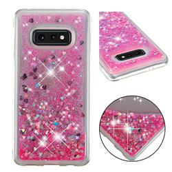 Dynamic Liquid Glitter Quicksand Sequins TPU Phone Case for Samsung Galaxy S10e (5.8 inch) - Rose