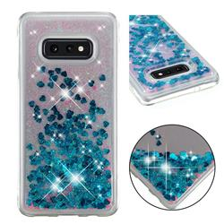 Dynamic Liquid Glitter Quicksand Sequins TPU Phone Case for Samsung Galaxy S10e (5.8 inch) - Blue