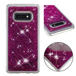Dynamic Liquid Glitter Quicksand Sequins TPU Phone Case for Samsung Galaxy S10e (5.8 inch) - Purple