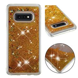 Dynamic Liquid Glitter Quicksand Sequins TPU Phone Case for Samsung Galaxy S10e (5.8 inch) - Golden