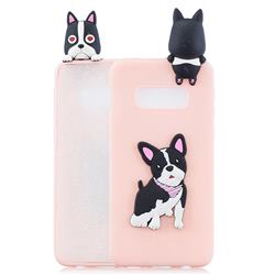 Cute Dog Soft 3D Climbing Doll Soft Case for Samsung Galaxy S10e (5.8 inch)