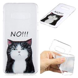 Cat Say No Clear Varnish Soft Phone Back Cover for Samsung Galaxy S10e (5.8 inch)