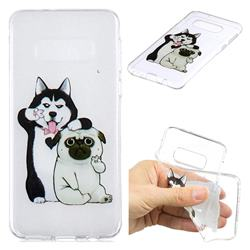 Selfie Dog Clear Varnish Soft Phone Back Cover for Samsung Galaxy S10e (5.8 inch)