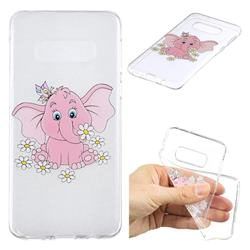 Tiny Pink Elephant Clear Varnish Soft Phone Back Cover for Samsung Galaxy S10e (5.8 inch)
