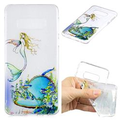 Mermaid Clear Varnish Soft Phone Back Cover for Samsung Galaxy S10e (5.8 inch)