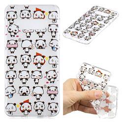 Mini Panda Clear Varnish Soft Phone Back Cover for Samsung Galaxy S10e (5.8 inch)