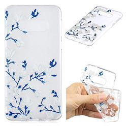 Magnolia Flower Clear Varnish Soft Phone Back Cover for Samsung Galaxy S10e (5.8 inch)