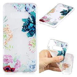 Gem Flower Clear Varnish Soft Phone Back Cover for Samsung Galaxy S10e (5.8 inch)