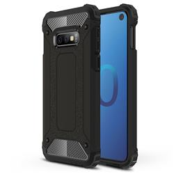 King Kong Armor Premium Shockproof Dual Layer Rugged Hard Cover for Samsung Galaxy S10e (5.8 inch) - Black Gold