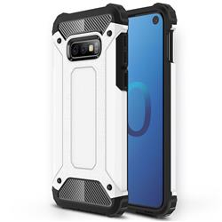 King Kong Armor Premium Shockproof Dual Layer Rugged Hard Cover for Samsung Galaxy S10e (5.8 inch) - White
