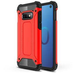 King Kong Armor Premium Shockproof Dual Layer Rugged Hard Cover for Samsung Galaxy S10e (5.8 inch) - Big Red