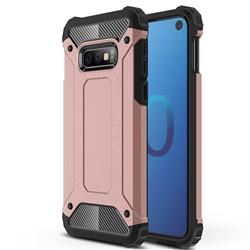 King Kong Armor Premium Shockproof Dual Layer Rugged Hard Cover for Samsung Galaxy S10e (5.8 inch) - Rose Gold