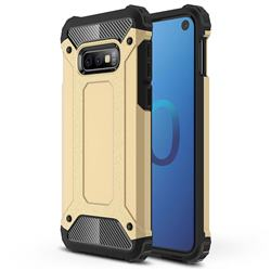 King Kong Armor Premium Shockproof Dual Layer Rugged Hard Cover for Samsung Galaxy S10e (5.8 inch) - Champagne Gold