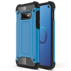 King Kong Armor Premium Shockproof Dual Layer Rugged Hard Cover for Samsung Galaxy S10e (5.8 inch) - Sky Blue