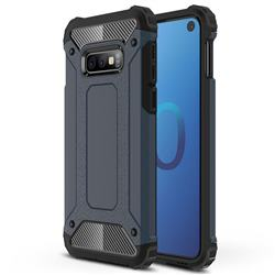 King Kong Armor Premium Shockproof Dual Layer Rugged Hard Cover for Samsung Galaxy S10e (5.8 inch) - Navy
