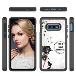 Cute Kittens Shock Absorbing Hybrid Defender Rugged Phone Case Cover for Samsung Galaxy S10e (5.8 inch)