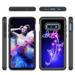 Dancing Butterflies Shock Absorbing Hybrid Defender Rugged Phone Case Cover for Samsung Galaxy S10e (5.8 inch)